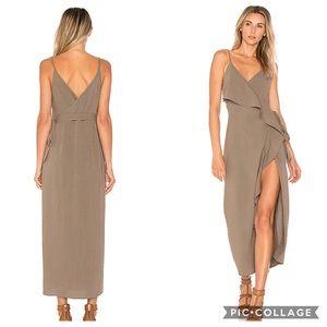 Tularosa | Selena Ruffle Boho Midi Wrap Dress